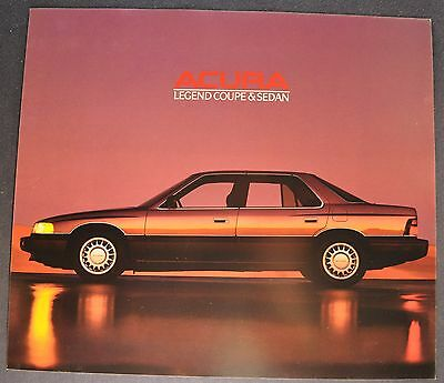 1988 Acura Legend Sedan Sales Brochure Sheet Excellent Original 88
