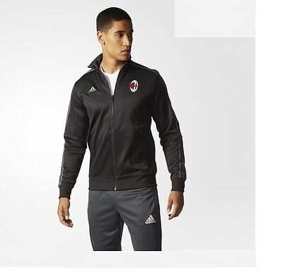 Adidas AC Milan Authentic Black Jacket ** Brand New With Tags