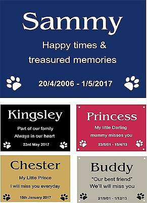 Personalised Pet Memorial Plaque Dog Cat Animal Engraved 14.5 x 10 cm
