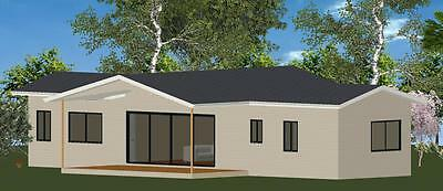 2 Bedroom DIY Granny Flat Kit - The Panorama 90 for your slab - FC Weatherboard