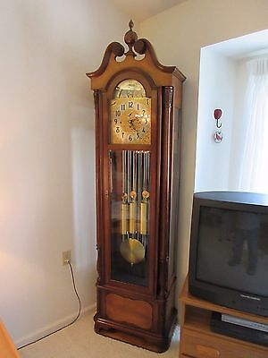 """Herschede Grandfather Clock 9 Tube Haverford 294 """"purchased From Original Owner"""""""
