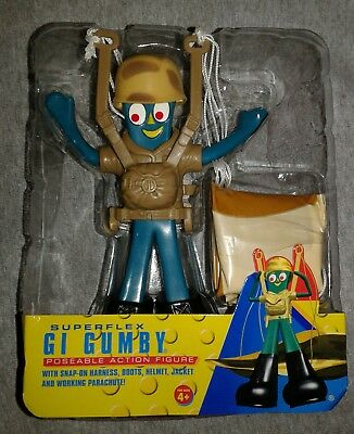 The Incredible Adventures Of Gumby Superflex Gi Gumby Poseable Action Figure