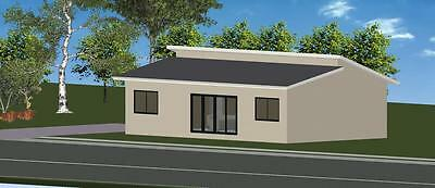3 Bedroom DIY Granny Flat Kit - The Seascape 96 for your slab - FC Weatherboard