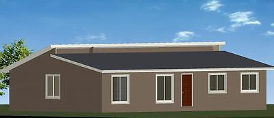3 Bedroom Owner Builder Kit Home The Stradbroke with Gal Chassis CGI Wall Sheets