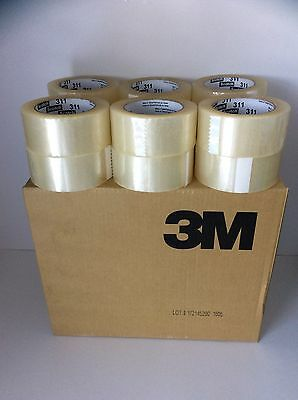 SCOTCH 3M CLEAR SEALING PACKING TAPE 48mm x 100m (109 YARDS PER ROLL) 12 PACK