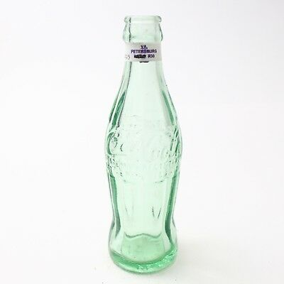 Coca Cola Hobbleskirt Bottle Dec 25, 1923 Type: Petersburg, Virginia VA C94 R30