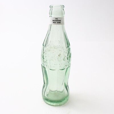 Coca Cola Hobbleskirt Bottle Dec 25, 1923 Type: Richmond, Virginia VA C95 O30E