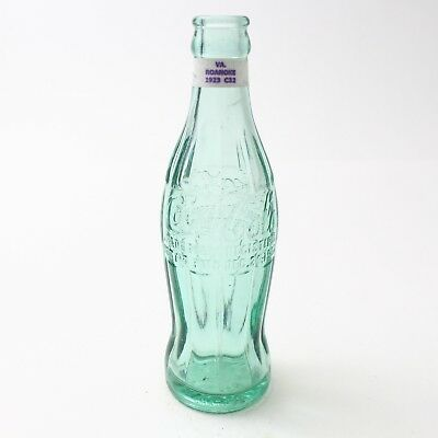 Coca Cola Hobbleskirt Bottle Dec 25, 1923 Type: Roanoke, Virginia VA C95 C32