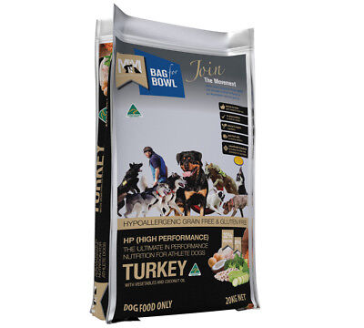 Meals For Mutts Premium Dry Dog Food HIGH PERFORMANCE Grain Free Turkey 20kg
