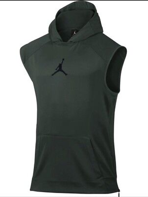 9a4345ac8bf3 Nike Air Jordan Sleeveless Fleece 360 Hoodie 808693 327 Green Men s Size  Medium