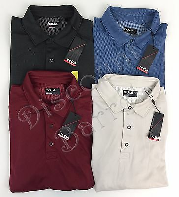 New Bolle Men's Short Sleeve Performance Polo Shirt Wicking Variety M L XL