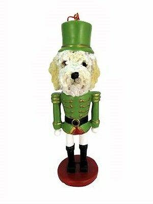 Labradoodle Cream Dog Toy Soldier Nutcracker Christmas Ornament