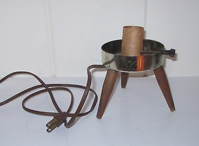 Vintage Mid Century Modern Atomic Beehive Tripod Lamp Base - Tested & Works!