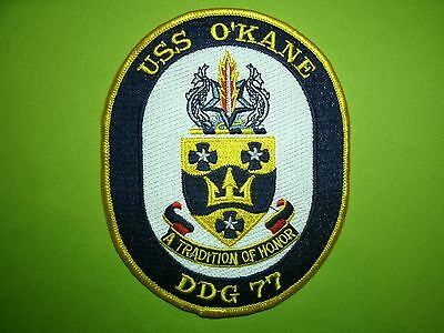 Military Shoulder Patch USS O'Kane DDG 77 USN US Navy Missile Destroyer Ship