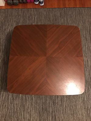 "Mid Century Modern Bautiful B.P. John Square Wooden Coffee Table 33"" x 33"""