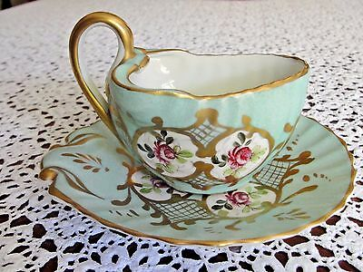 Antique Hand Painted Sevres Cup And Saucer .made In France