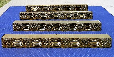 Victorian Cornices~~Set of 4 Brass~~Lincoln Drape 1890