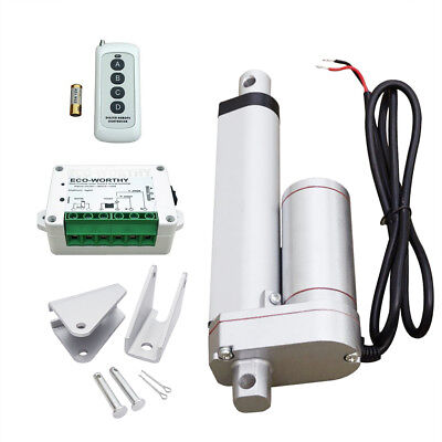"4"" 330lbs/150kg Max Lift 12V Linear Actuator W/ Wireless Motor Controller Kit"