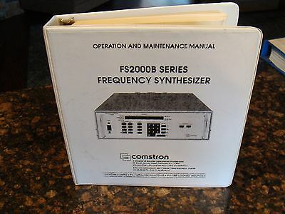 Comstron FS2000B Frequency Synthesizer Operation and Maintenance Manual