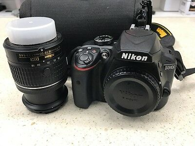Nikon D3400 Camera With Nikkor 18-55mm DX AF-P 1:3.5-5.6G Lens. As New. Mint.