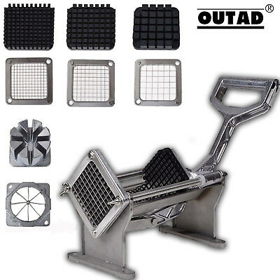 Potato French Fry Fruit Vegetable Cutter Slicer Commercial Quality W 4 Blades HM