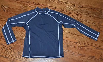 Lands End Boys S 8 Navy Rash Guard Swim Shirt Long Sleeve Sun Protection Girls
