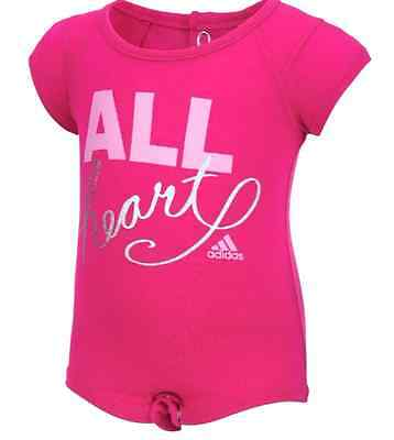 Baby Girls Infant Adidas Pink All Heart Pink 9  Months