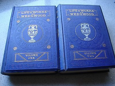 152 Year Old   'life & Works Of Wedgwood'  1865  In 2 Vols