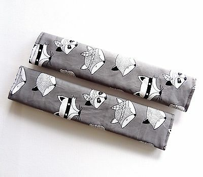 Adult Seat Belt Covers Strap padded use for Car Seat Belt - Grey FOX