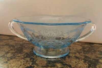 "Fostoria Versailles Blue Cream Soup Bowl 5 3/8"" -- SHIPS IN 1 DAY"