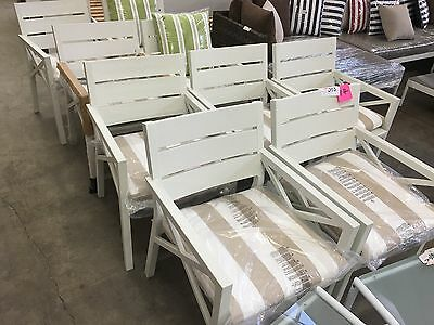 Lot-398 Outdoor delta dining chair x 1 with cushion