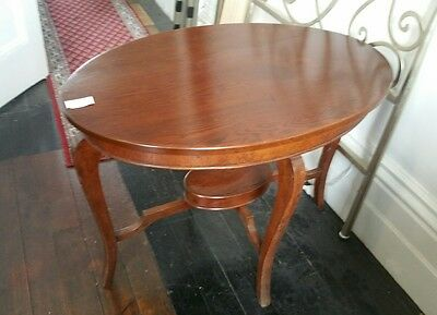 Oval  Hall or Occasional Table Edwardian Style Blackwood Antique