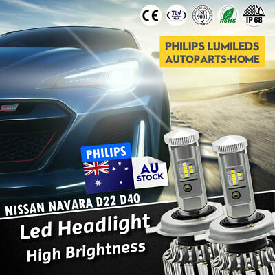 Nissan Navara D22 D40 H4 LED Headlight KIT vs hid Xenon Halogen Globes Bulbs AU