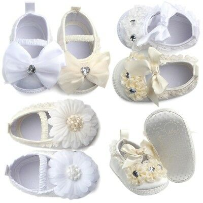 Princess Baby Girl Soft Sole Shoes Infant Toddler Baptism Shoes Crib Shoes 0-18M