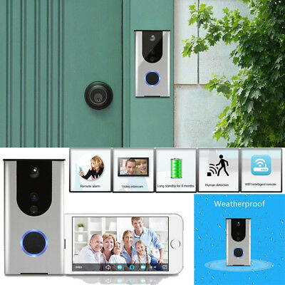 Wireless WiFi Home Intercom Doorbell Night Vision Remote Video Camera Phone Ring
