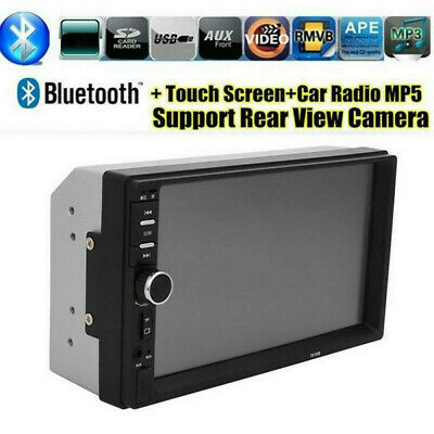 """2 Din Car Radio Audio Stereo MP5 Player Support 7"""" Bluetooth Touch Screen Camera"""
