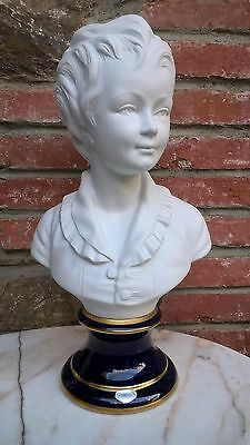 Buste Statue Enfant Limoges Signee  Camille Tharaud