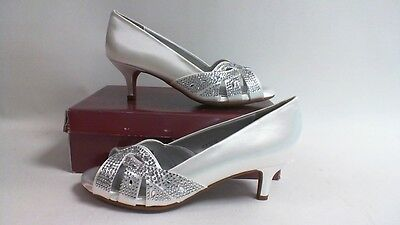 Dyeable Bridal/Evening Shoes -Tracy- White Satin -US 6D - UK 4 #31R153
