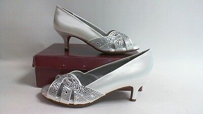 Dyeable Bridal/Evening Shoes -Tracy- White Satin -US 8.5D - UK 6.5 #31R154