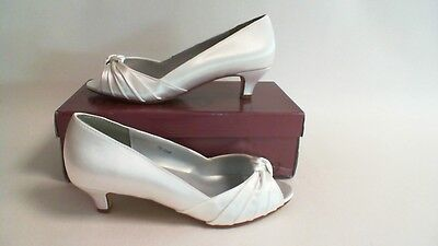 New Dyeables Wedding Shoes - Dyed Ivory Satin - Becky- US 5.5B UK 3.5 #1R309