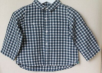 Marie Chantal Baby Navy Checked Shirt 12 Months