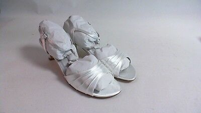 New Dyeables Wedding Shoe - White Satin - Brielle - US 11 EE UK 9 #1R315