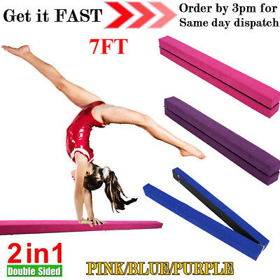 7FT 2.2M Gymnastics Fold Balance Beam Hard Wearing Home Gym Training Sports Sale