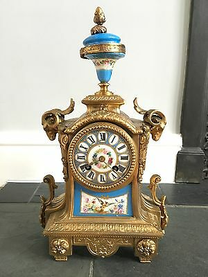 Antique Old Richard & Co Paris London French Sevres Ormolu Mantel Clock 2525