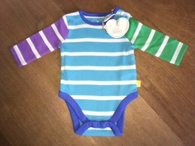 *NEW* Little Bird by Jools Oliver - Turquoise Stripe Bodysuit 0-3 Months