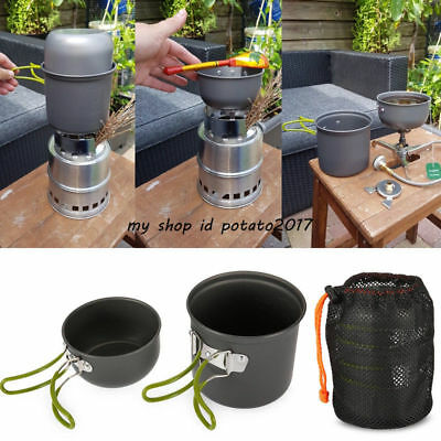 Hiking Picnic Tableware Backpacking Pot Pan Camping Cookware Outdoor Cooking Set