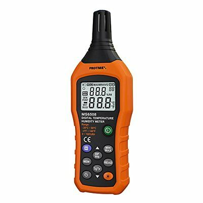 Protmex MS6508 Digital Temperature and Humidity Meter for Industry Agricultur...