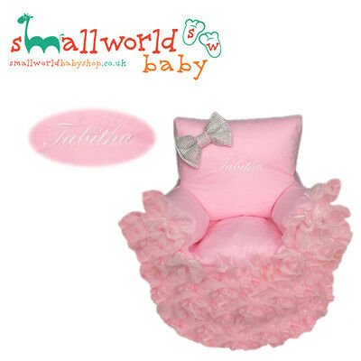 Personalised Pink Bling Frilly Toddler Bean Chair (NEXT DAY DISPATCH)