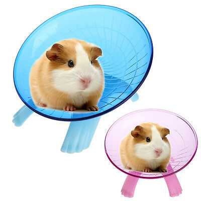 Flying Saucer Silent Exercise Wheel Hamster Mouse Rat Gerbil Cage Spinner Toy 7""