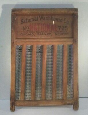 VINTAGE National Washboard Company Top Notch No. 725 Chicago, Saginaw, Memphis